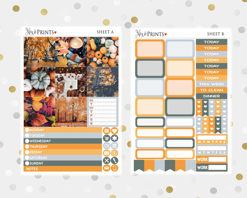 Halloween Weekly Kit for the Mini Happy Planner