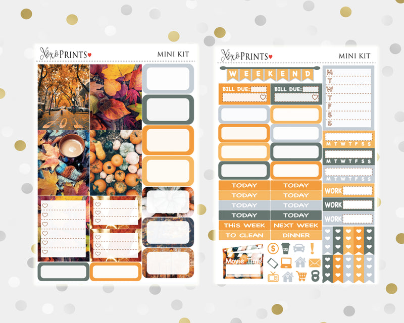 Hello Fall Mini Weekly Kit for your Personal Planner
