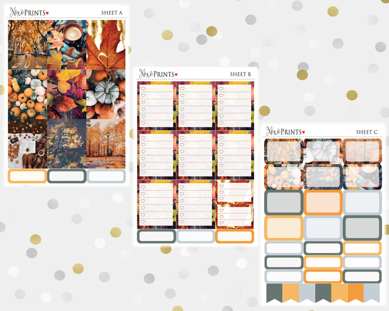 Hello Fall Weekly Kit for the Vertical Erin Condren Planner