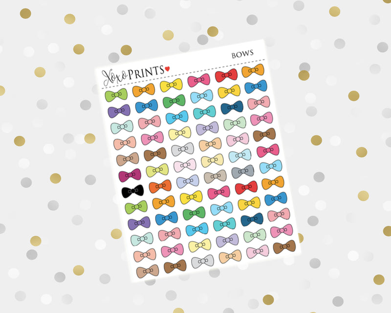 Bow Icon Stickers for the Erin Condren Vertical, Horizontal or Happy Planner