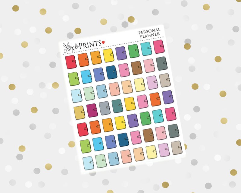 Personal Planner Icon Stickers for the Erin Condren Vertical, Horizontal or Happy Planner