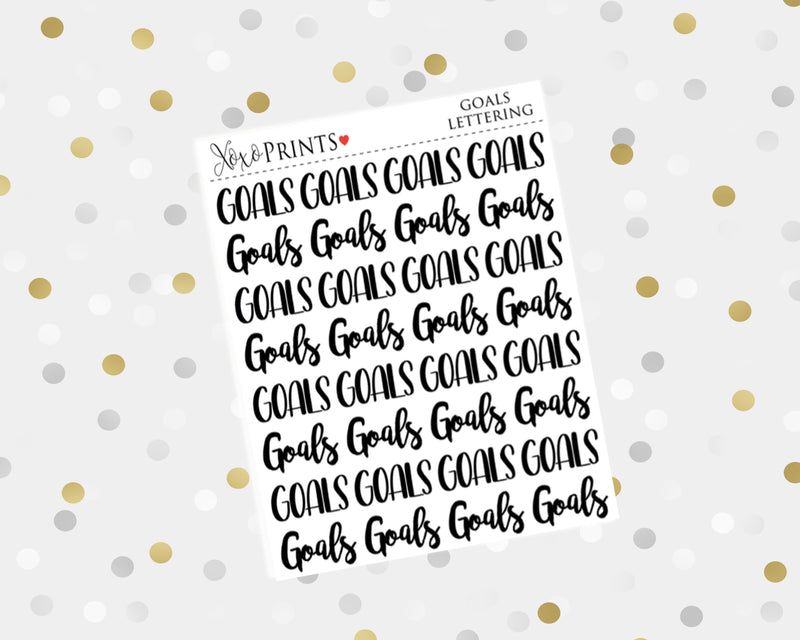 Today Lettering Stickers for the Erin Condren Vertical, Horizontal, or Happy Planner