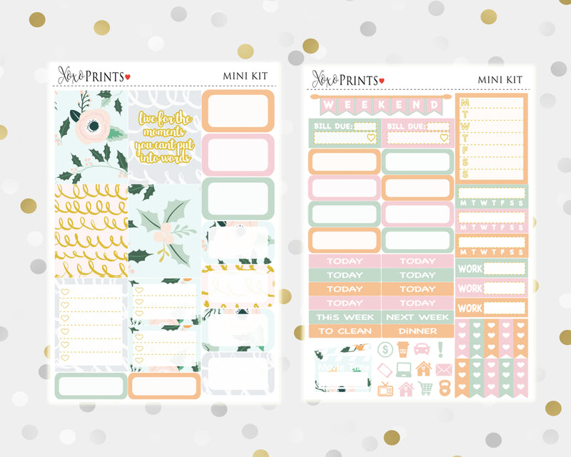 Coffee Mini Weekly Kit for your Personal Planner