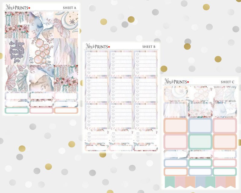 Sea Colors Weekly Kit for the Horizontal Erin Condren Planner