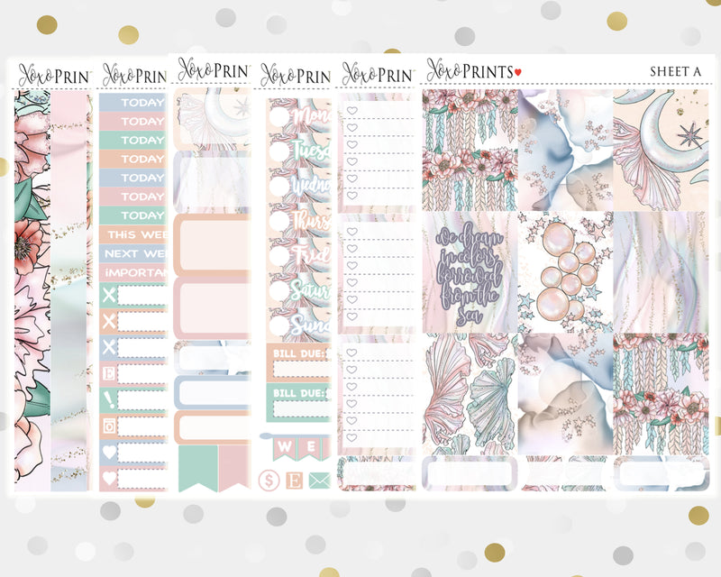 Sea Colors Weekly Kit for the Vertical Erin Condren Planner