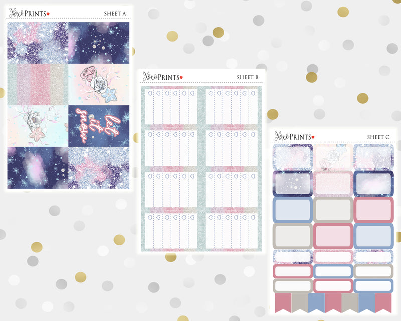 Snowflakes Weekly Kit for the Classic Happy Planner