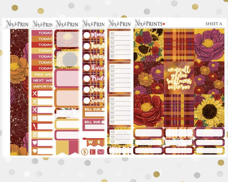 Halloween Weekly Kit for the Horizontal Erin Condren Planner