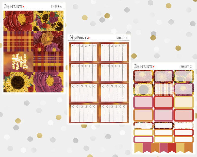 Sunflowers Weekly Kit for the Classic Happy Planner