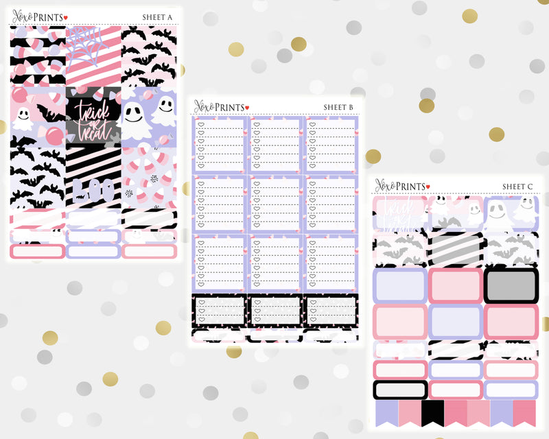 Trick or Treat Weekly Kit for the Horizontal Erin Condren Planner
