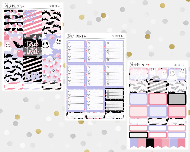 Trick or Treat Weekly Kit for the Vertical Erin Condren Planner