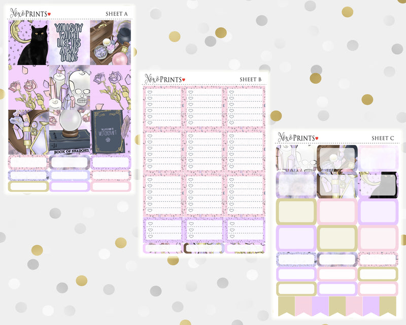 Witch Craft Weekly Kit for the Horizontal Erin Condren Planner