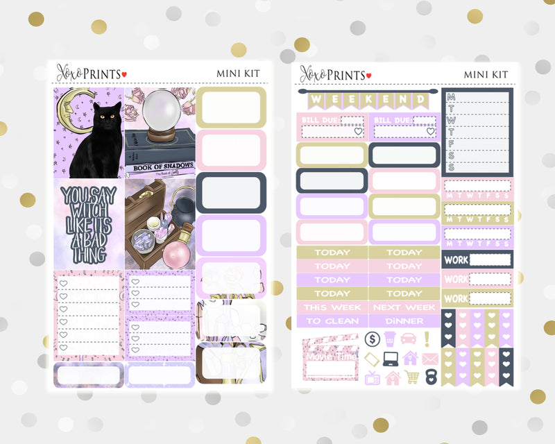 Witch Craft Mini Weekly Kit for your Personal Planner