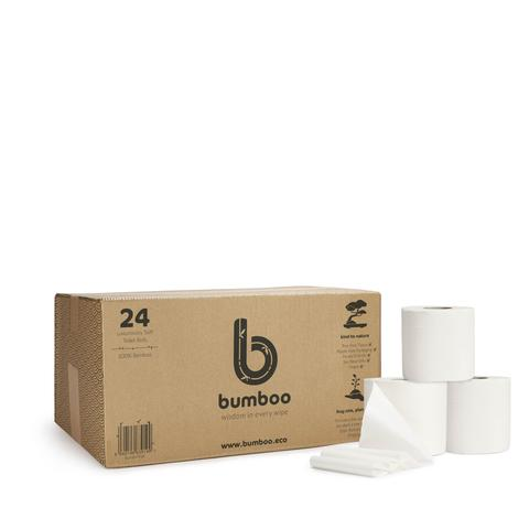 100% bamboo toilet tissue - 24 extra long rolls (without wrappers)