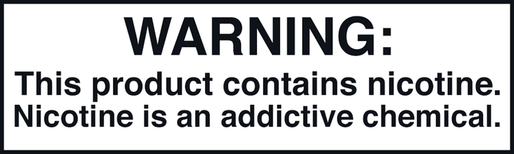 Nicotine FDA Warning