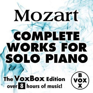 Mozart: Complete Works for Solo Piano - Walter Klien (VoxBox Digital Download Boxed Set)