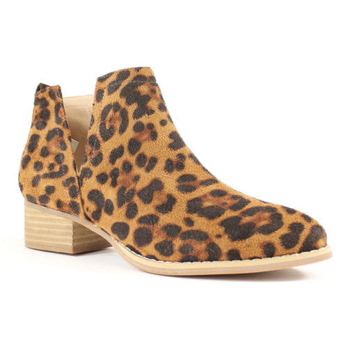 Avery Leopard Print Camel Suede - ARiderGirl