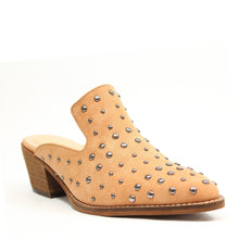 Load image into Gallery viewer, Cara Studs Western Mules Whiskey - ARiderGirl