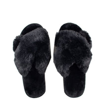 Load image into Gallery viewer, Crossband Slipper - Black