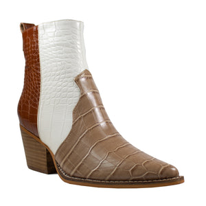 Delite - Croco Natural/White/Brown