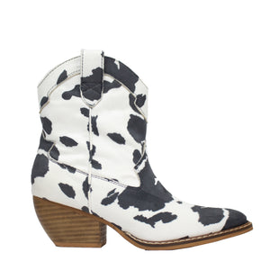 Dolce Cow White/Black