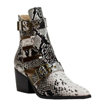 Load image into Gallery viewer, Robin Western Booties Snake White.Black - ARiderGirl