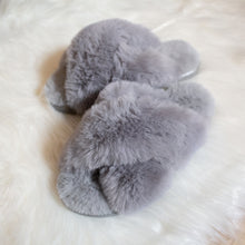 Load image into Gallery viewer, fluffy furry crossband slippers