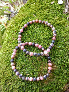 Bracelet en Rhodonite 6mm