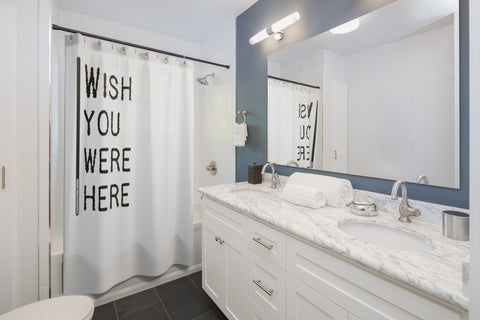 Wish You Were Here - Shower Curtains