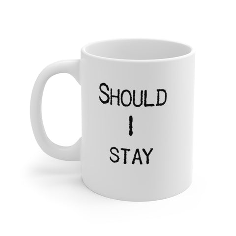 Should I Stay Or Should I Go - Mug - White