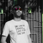 We Can be Heroes Just for One Day - Mens T - Light