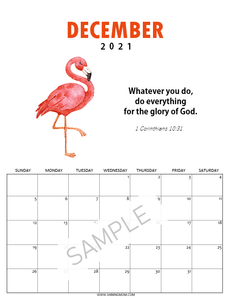 Super-Cute Bible Verse Calendar for Kids