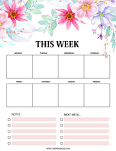 Load image into Gallery viewer, Printable 2019 Calendar in Enchanting Florals!