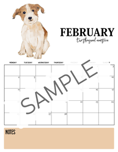 Dog-Themed Pet Care Planner & 2019 Monthly Calendar Bundle {Special Launch Deal}