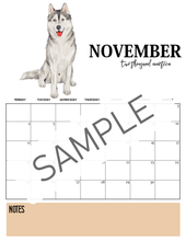 Load image into Gallery viewer, Dog-Themed 2019 Calendar- Monday Start!