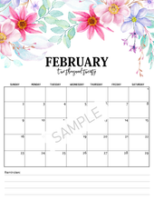Load image into Gallery viewer, 2020 Monthly Floral Calendars