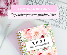 Load image into Gallery viewer, The 2021 Success Designer Planner: 60 Pages!