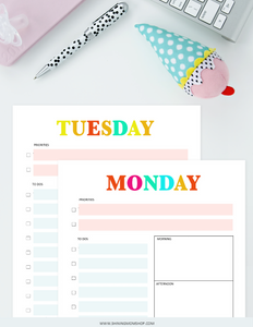 Rainbow Daily Planner