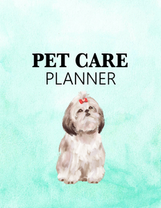 Super Cute Pet Care Planner for Your Dog Buddy!