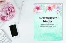 Load image into Gallery viewer, Back to Basics Binder: Includes ALL the Basics Organizers You Need!