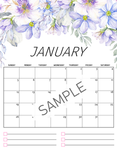 2020 Floral Calendar in Beautiful Florals!