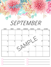 Load image into Gallery viewer, 2020 Floral Calendar in Beautiful Florals!