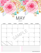 Load image into Gallery viewer, 2021 Floral Calendar