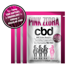 Trial Pack (3 Packets) 9 x 10mg CBD Softgels - 20X more bioavailable! FREE SHIPPING - Pink Zebra Nutra