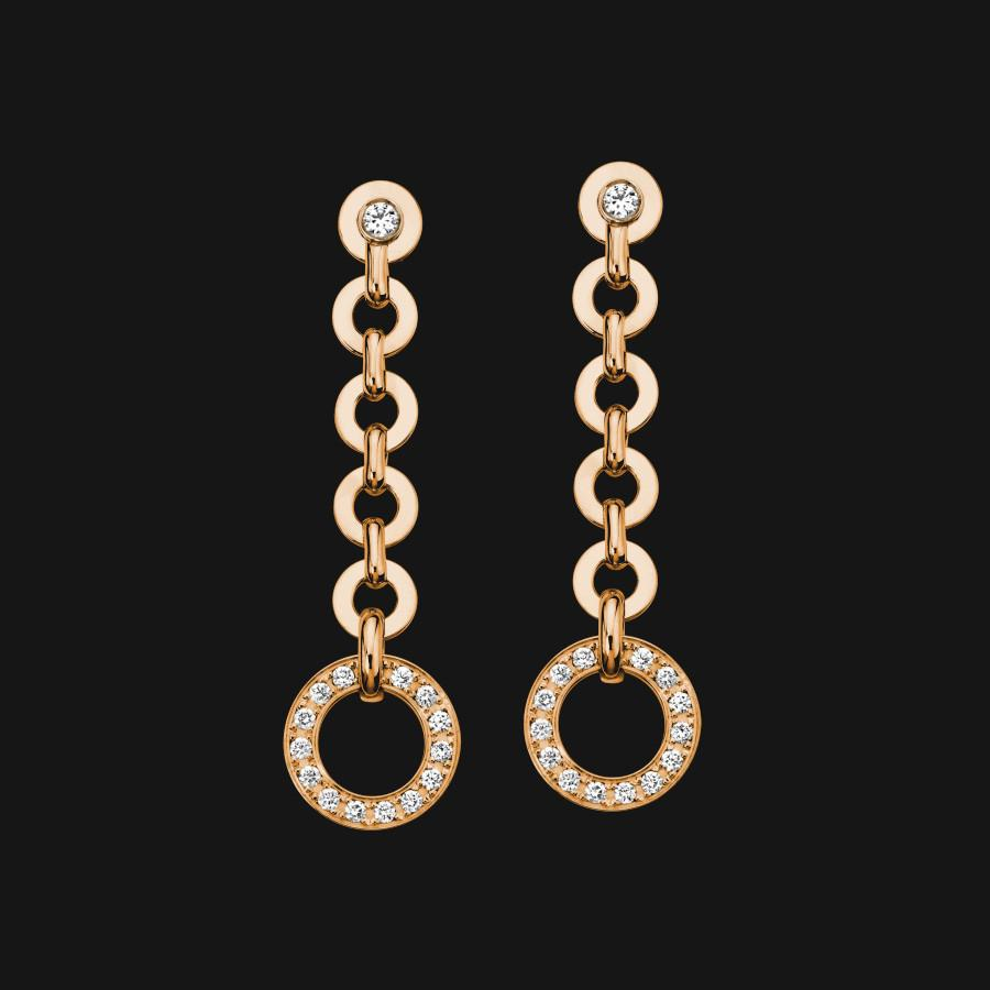 14k Dangling Pendant Earrings