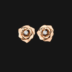 18k Solid Bloom Earrings