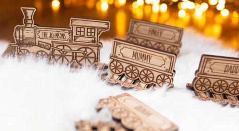 Personalised family train set