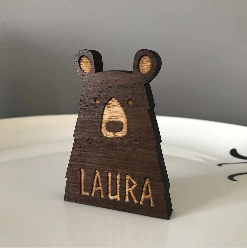 Personalised Bear Place Name/Table Decoration