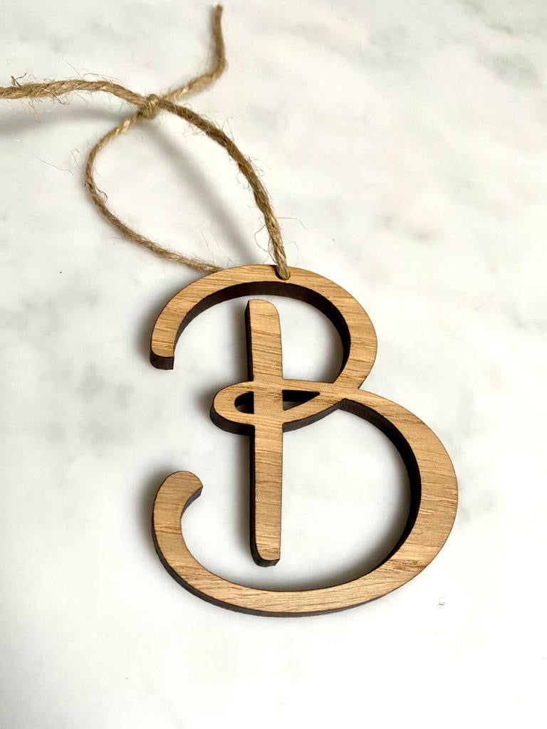 Personalised Initial Place Name/Table Decoration - Oak