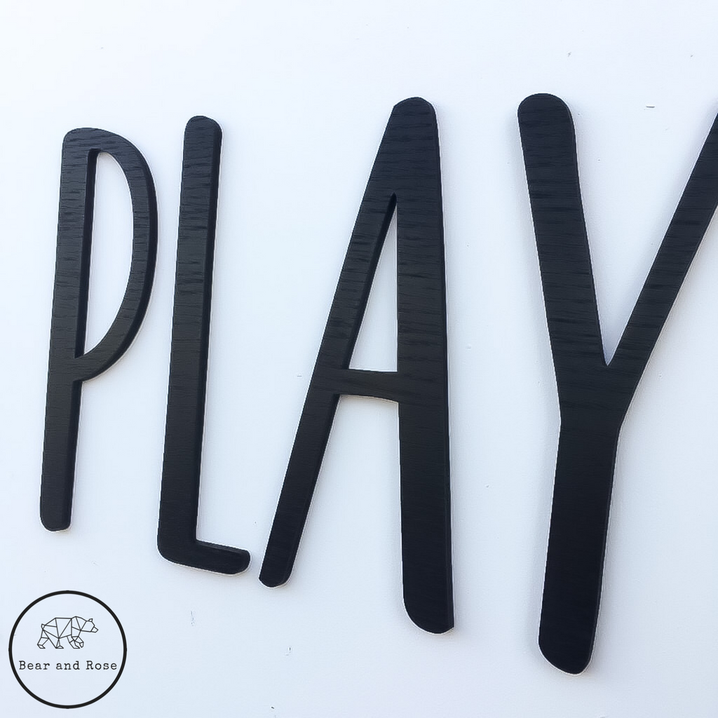 "Wooden ""PLAY"" Wall Plaque"