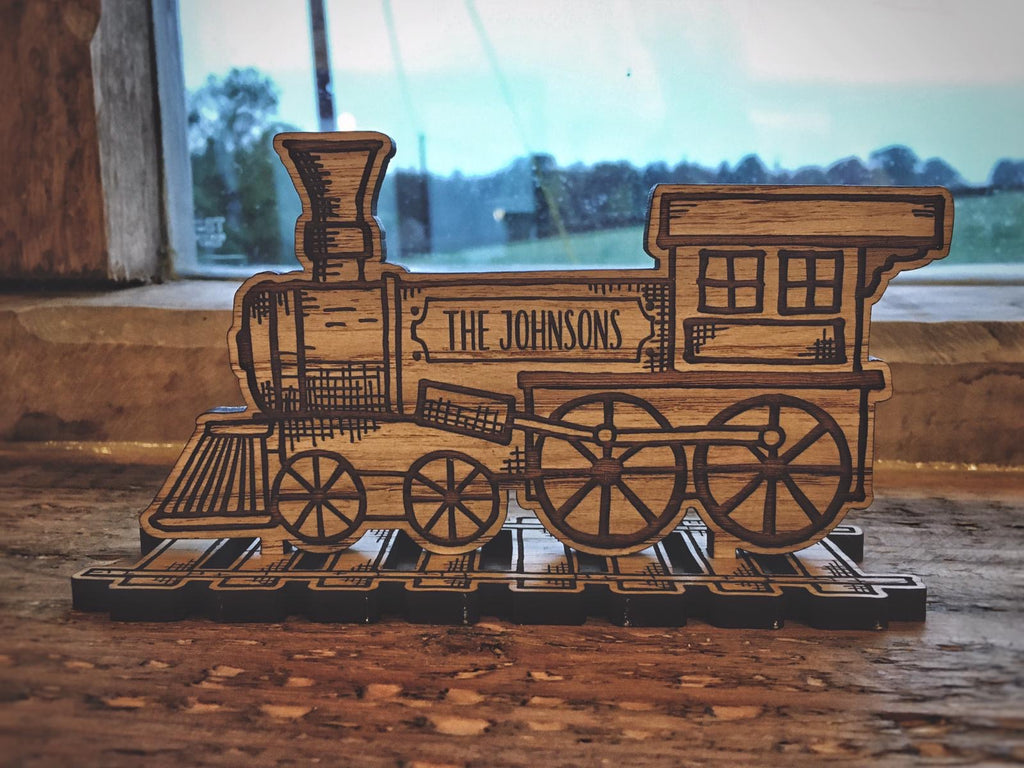 Personalised Family Train & Carriages Set